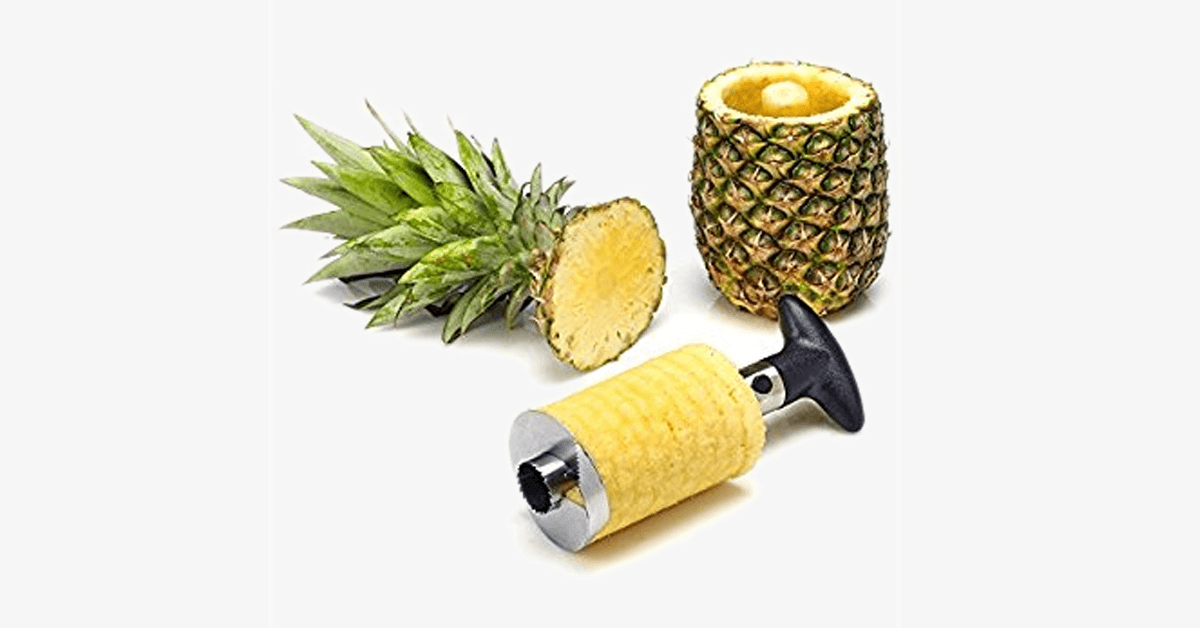 Stainless Steel Pineapple Slicer - Your kitchen's best friend!