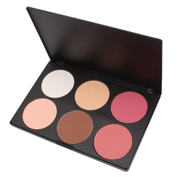 Pink and Peach 6 Color Blush Makeup Palette