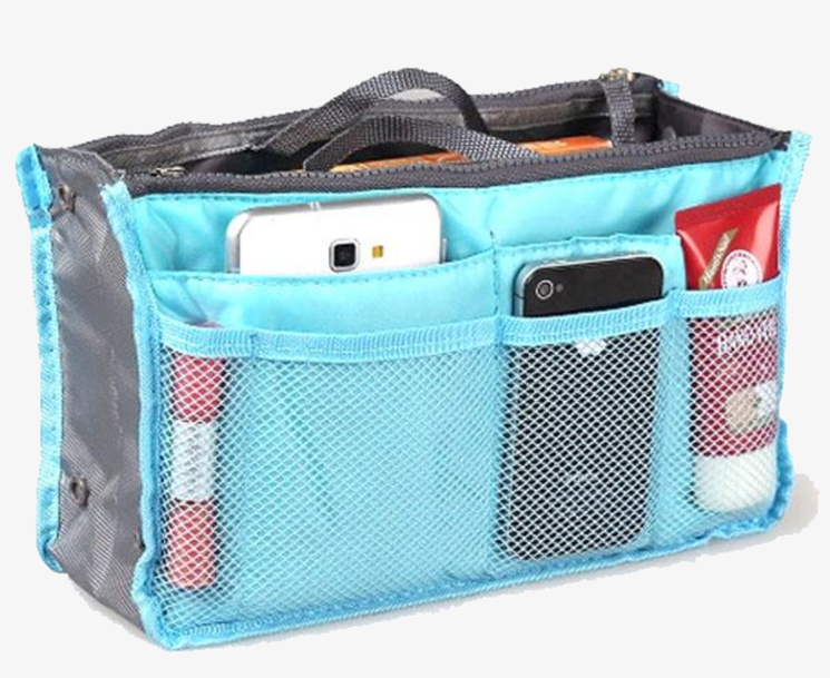 Slim Bag-in-Bag Purse Organizer - Assorted Color - FREE SHIP DEALS