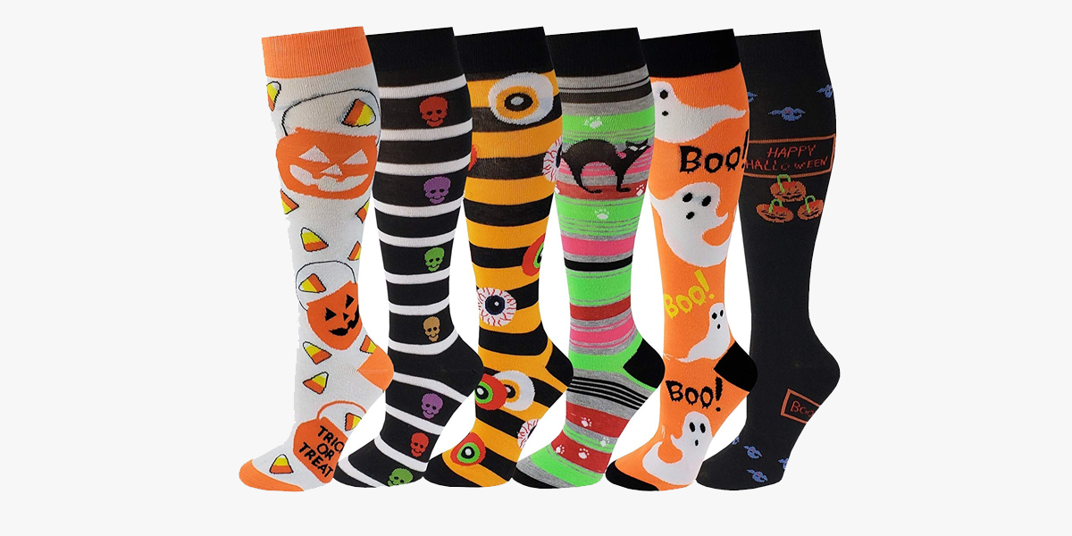 30a6ddbba Multi Colorful Patterned Knee High Socks For Women – FREE SHIP DEALS