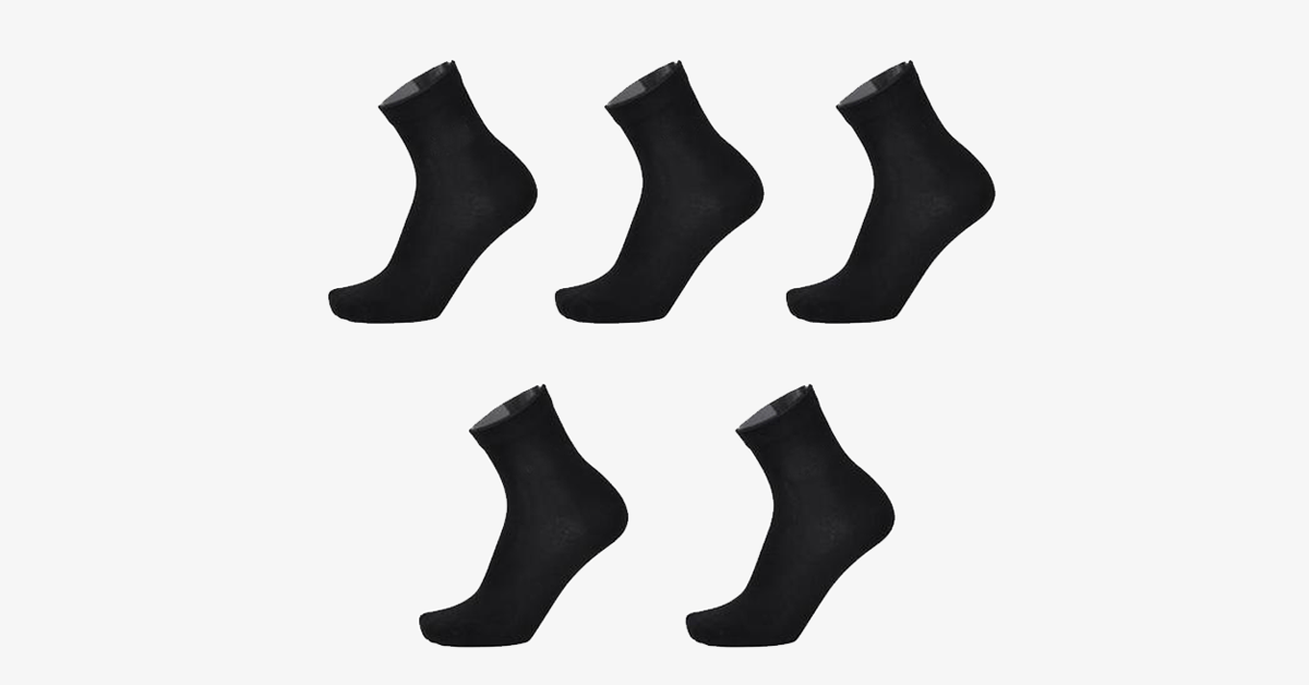 Bamboo Anti-Bacterial Socks for Men (5pairs) - FREE SHIP DEALS