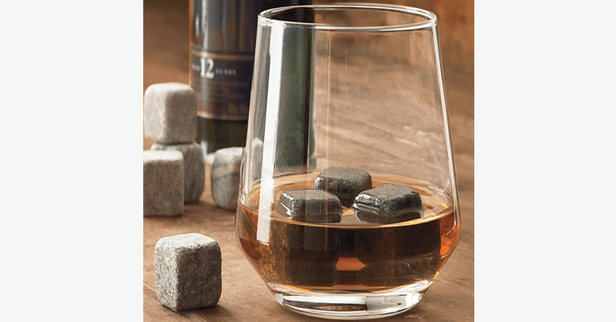 9 Pack On the Rocks Whiskey Ice Stones - FREE SHIP DEALS