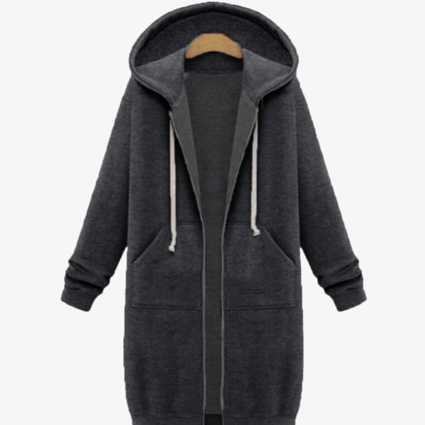 Women's Long Zip Sweatshirt Hoodie - FREE SHIP DEALS