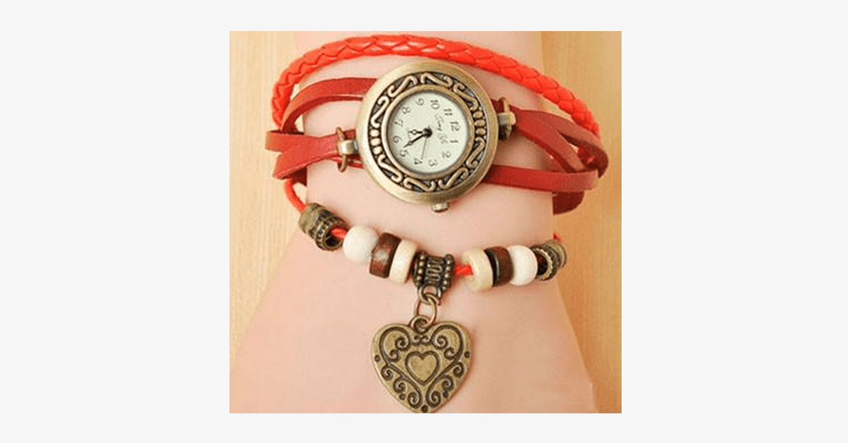 Heart Vintage Wrap Watch - FREE SHIP DEALS
