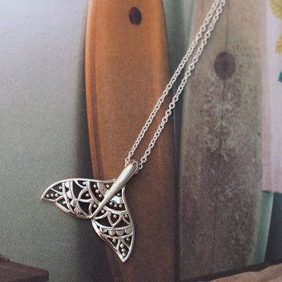Mandala Dolphin Tail Necklace