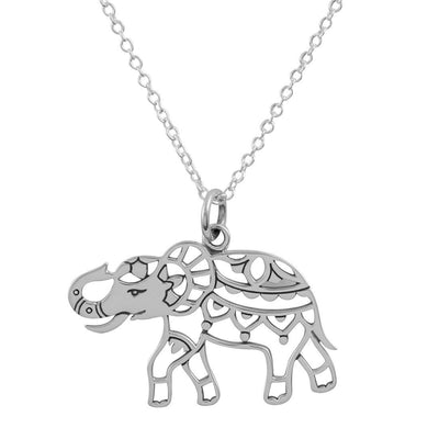 Mandala Elephant Necklace