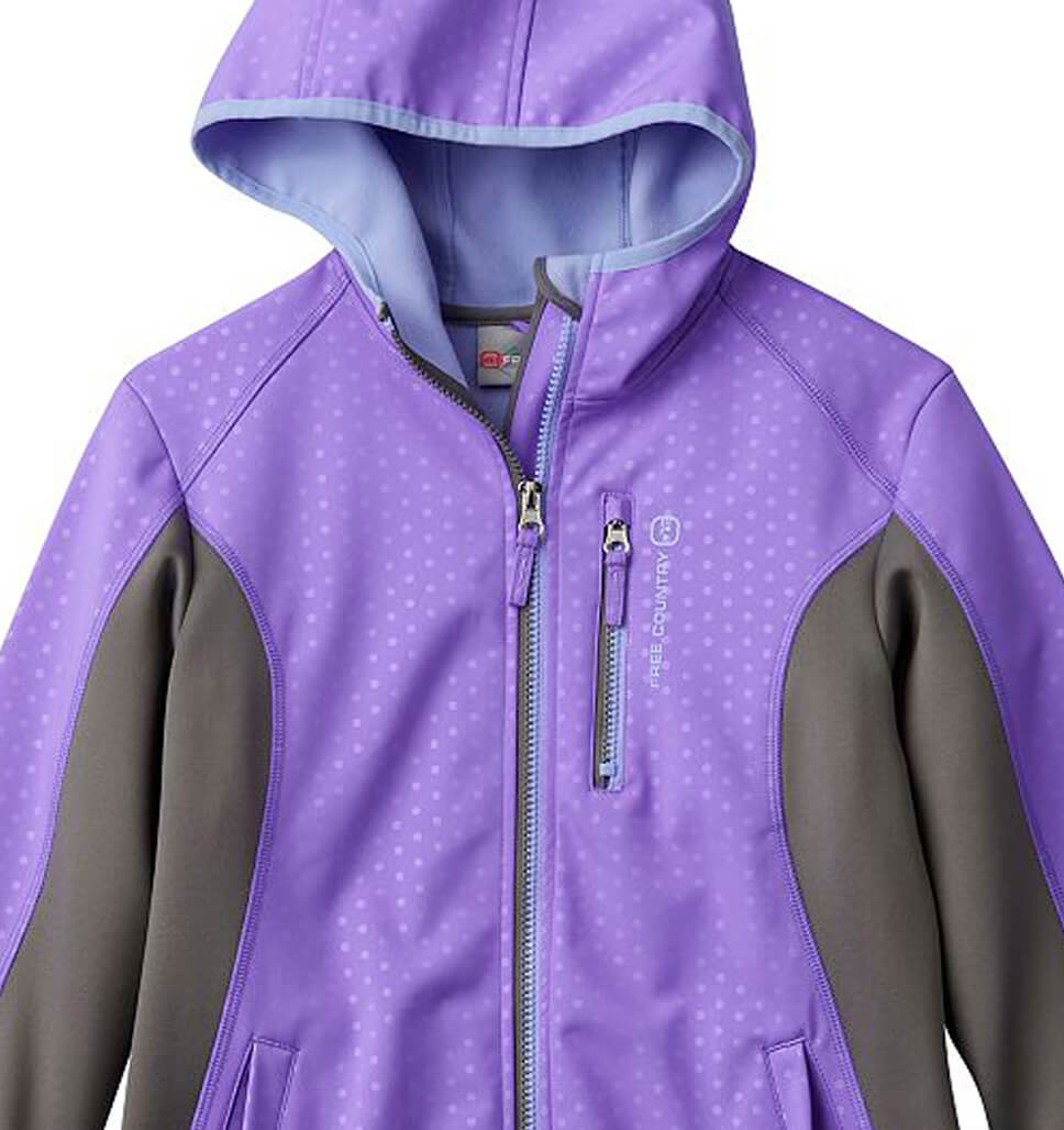 Free Country Girls' Glider Softshell Jacket - Rose