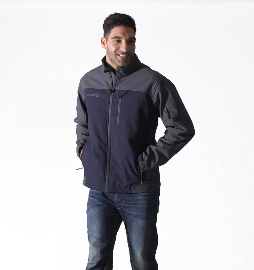 Free Country Men's Big and Tall Trave Softshell Jacket - Dark Navy