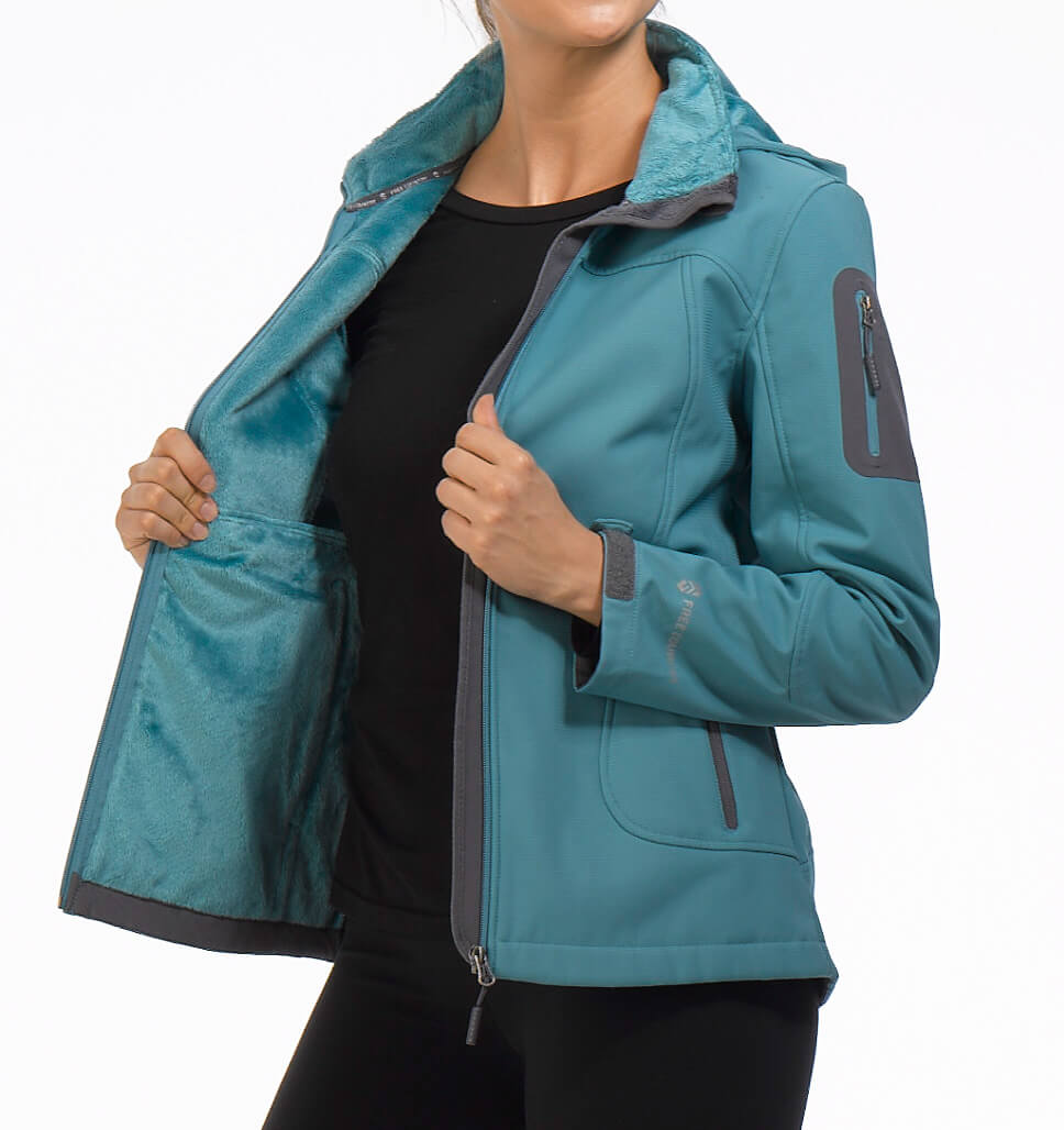 Women's Plus Size Crescent Cubic Dobby Softshell Jacket