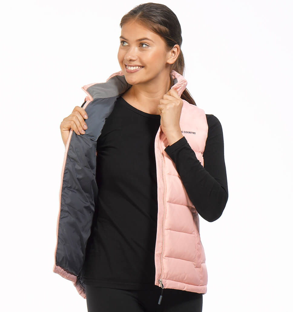 Free Country Women's Slope Down Vest - Peach Pink - S