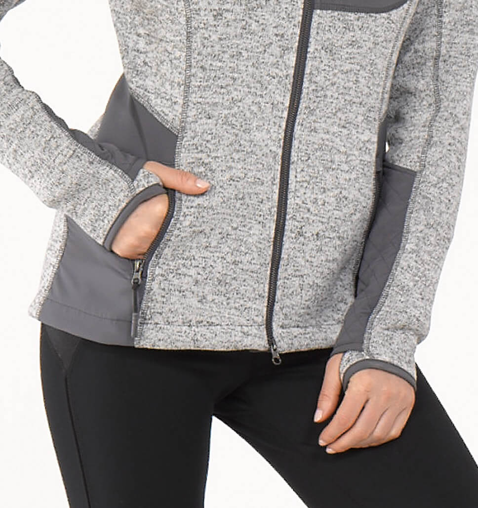 Women's Spire Sweater Knit Fleece Jacket