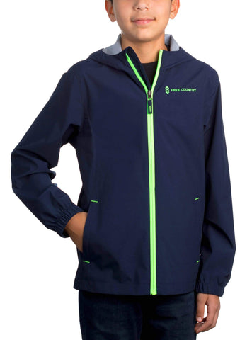 Free Country Boys' Drizzler Rain Jacket - Navy - XS