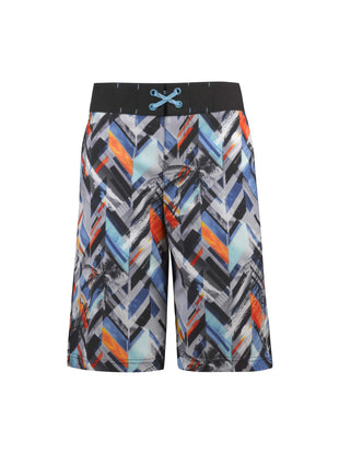 Free Country Boys' Drop Off Hydroflx Swim Shorts - Hydro Multi - S