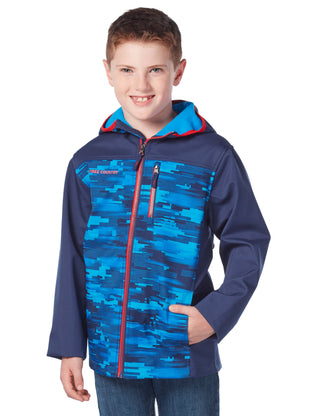 Free Country Boys' Escapade Softshell Jacket - Robin Blue - 4