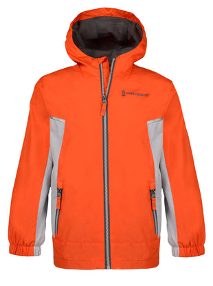Free Country Boys' Flash Windbreaker Jacket - Orange Rush - S