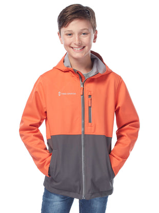 Free Country Boys' Gradient Softshell Jacket - Team Orange - 8