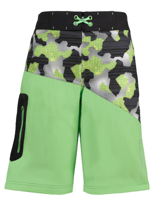 Free Country Boys' HydroFlx Camo Zone Board Shorts - Leafy Green - S
