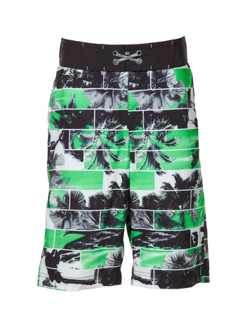 Free Country Boys' Paradise Cove Board Shorts - Bright Green - 14/16