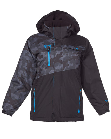 Free Country Boys' Powder Boarder Jacket - Black - S