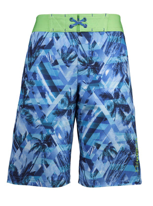 Free Country Boys' Seaside Prism HydroFlx Swim Shorts - Navy - S