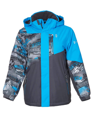 Free Country Boys' Snowscape Boarder Jacket - Bright Blue - S