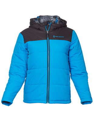 Free Country Boys' Summit Puffer Jacket - Robin Blue - S