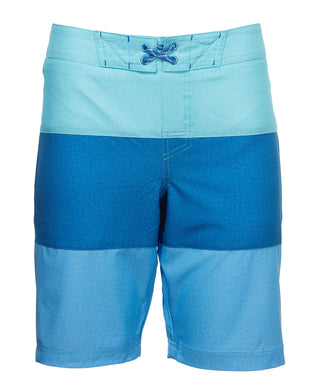 Free Country Boys' Texture Stripe Board Short - Aqua Splash Combo - 8