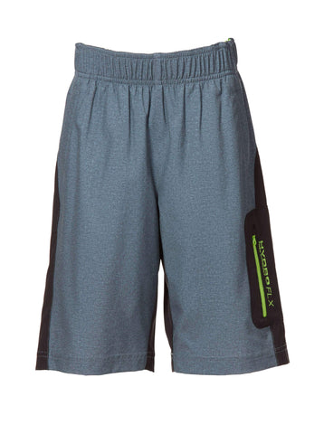 Free Country Boys' Textured Board Short - Grey - 14/16