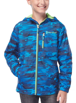 Free Country Boys' Traction Windshear Jacket - Robin Blue - S