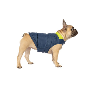 Free Country Dog Down Reversible Mock Jacket - Solar Blue-Lime - XS