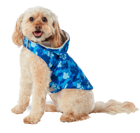 Free Country Dog Raincoat - Blue Camo - XS
