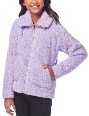 Free Country Little Girls' Alpine Sherpa Fleece Jacket - Lilac - S