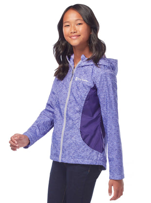 Free Country Girls' Dash Windshear Jacket - Pale Iris - S