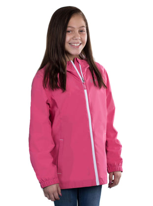 Free Country Girls' Drizzly Rain Jacket - Rose - XS