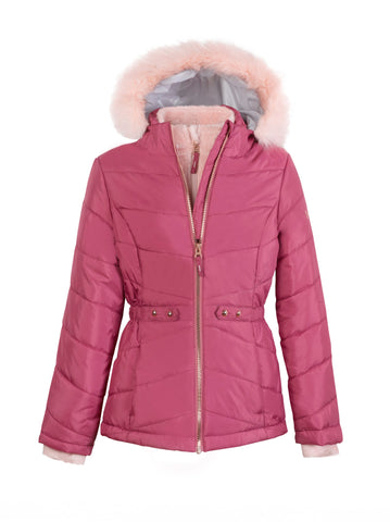 Girls' Fauna Quilted Cire Jacket