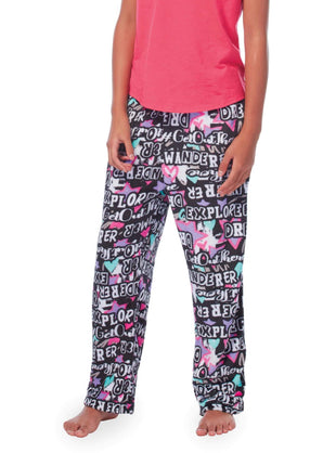 Free Country Girls' Lazy Day Pants - 2-Pack - Black-Spearmint - XS