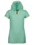 Free Country Girls' Mesh Hooded Tie Knot Cover Up - Mint