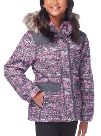Free Country Girls' Nordic Boarder Jacket - Strawberry
