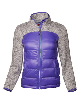 Free Country Girls' Proactive Down Hybrid Fleece Jacket - Purple Reign - XS