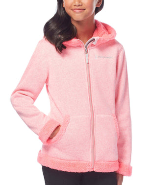 Free Country Girls' Revelry Mountain Fleece Jacket - Pink Crush - S