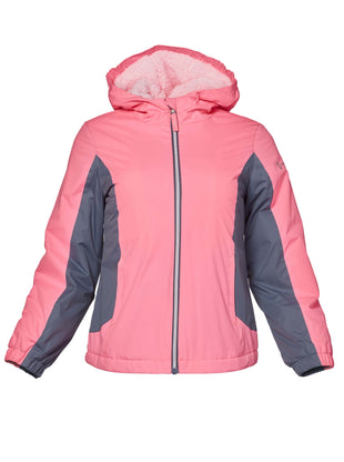 Free Country Girls' Sherpa Midweight Jacket - Coral - 7/8
