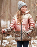 Girls' Shimmer Metallic Puffer