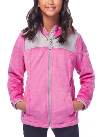 Free Country Girls' Signature Butter Pile Fleece Jacket - Raspberry - S