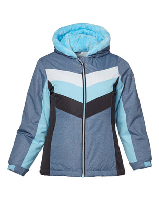 Free Country Girls' Snow Angel Boarder Jacket - Silver-Blue - S