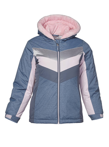 Free Country Girls' Snow Angel Boarder Jacket - Silver-Pink - S