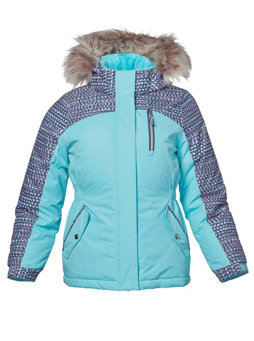 Free Country Girls' Vista Boarder Jacket - Spearmint - S