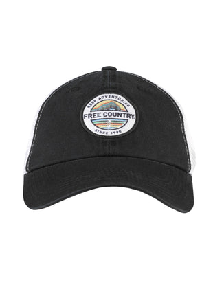 Free Country Keep Adventuring Trucker Hat - Black - O/S