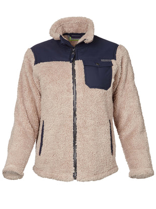Free Country Toddler Boys' Alpine Sherpa Fleece Jacket - Latte - 2T