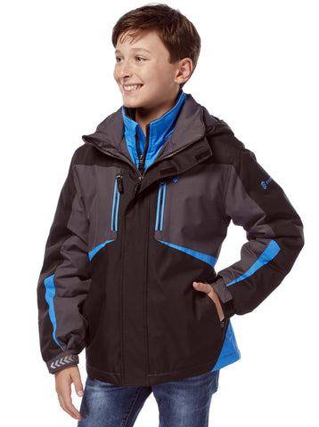 Free Country Little Boys' Glacial Boarder Jacket - Black