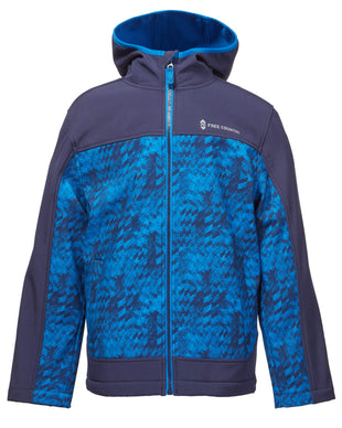 Free Country Little Boys' Maverick Softshell Jacket - Blue - 4